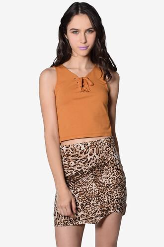 skirt leopard print mini skirt