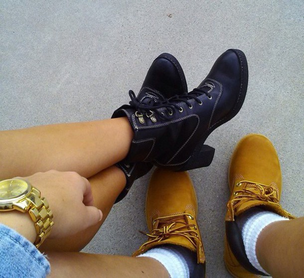 shoes high heel timberlands