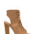 Back It Up Laced Cut-Out Booties BEIGE BLACK TAN OLIVE - GoJane.com