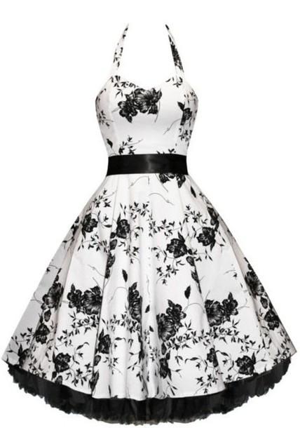 floral bouquet dress, floral dress, vintage dress, 50s style ...