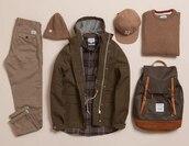 jacket,jeans,chinos,camouflage,snapback,rucksack,backpack,beanie,menswear,pants