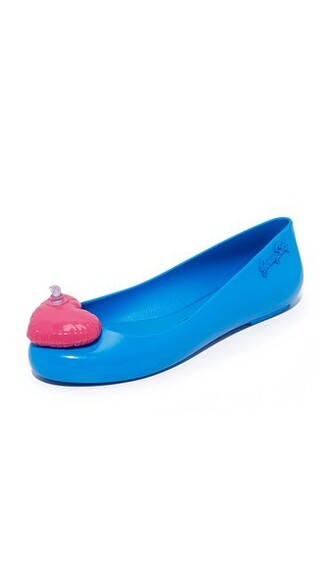 space love flats blue pink shoes