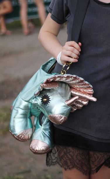 bag shoulder bag dinosaur metallic science stuffed animal kawaii bag cool animal holographic