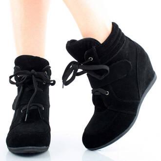 tie up shoes wegdes