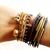MadeByGirl: Gold Double Skull Bracelet