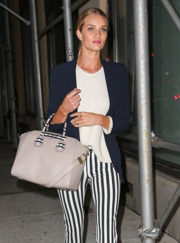 bag rosie huntington-whiteley sweater stripes