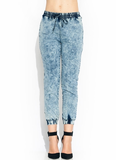 Acid-Washed-Up-Jean-Joggers BLUE - GoJane.com