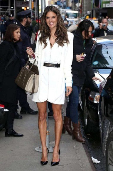 alessandra ambrosio dress bag shoes