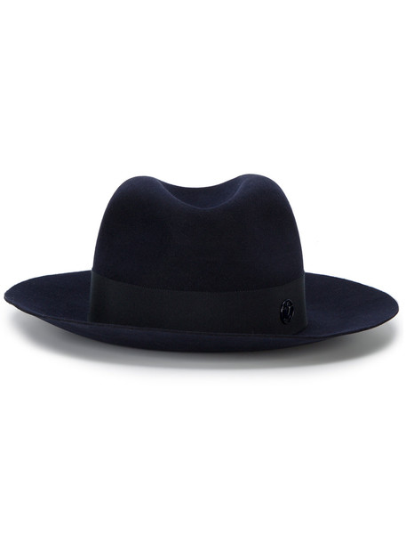 hat fedora blue