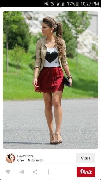 skirt burgundy skirt mini skirt skater skirt