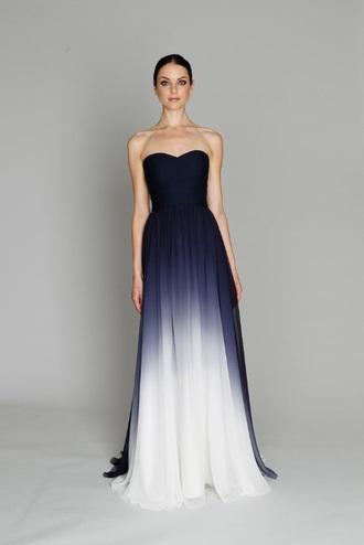 dress navy dress blue dress ombre dress blue navy white