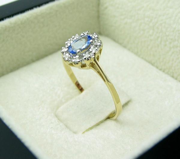 jewels tanzanite handmade z tanzanitem impressimo diamonds gold ring engagement ring jewelry pierścionek zaręczynowy