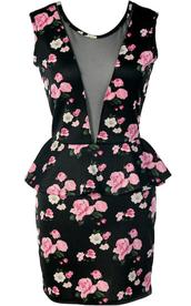 dress,floral,flowers,vintage,black dress