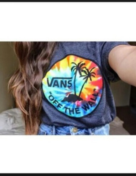 vans t-shirt tie dye off the wall vans off the wall tie dye t-shirt