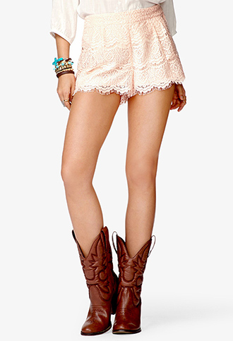 Prairie doll lace shorts
