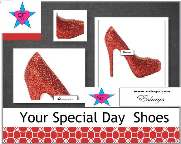 shoes red shoes bling red heels red bling shoes red pumps bridal pumps prom prom shoes www.eshays.com