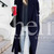 Navy Long Sleeve Lapel Coat -SheIn(Sheinside)