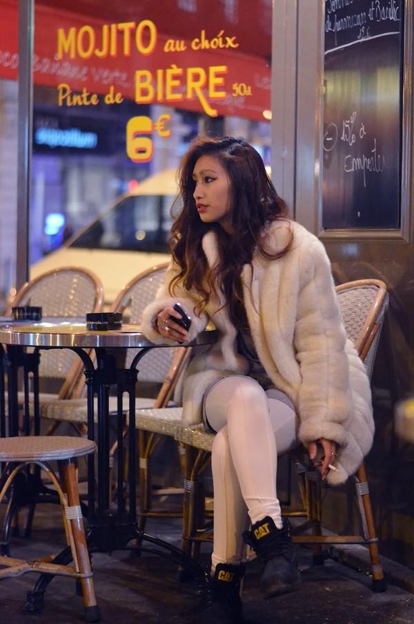rosa pel's blog coat t-shirt pants shoes