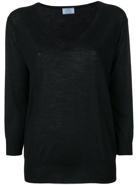 Prada sweater women black wool