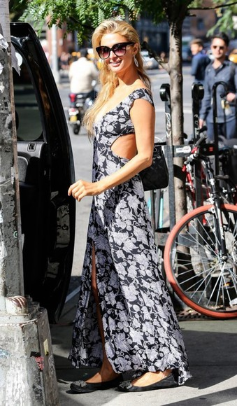 dress maxi dress paris hilton