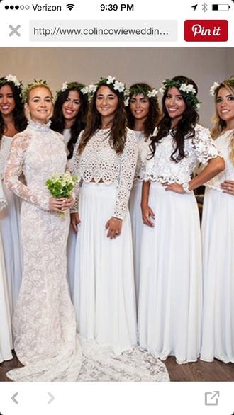 skirt white maxi skirt bridesmaid white dress