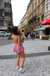 romper,pink,open back,backless,white sneakers,summer outfits,spring break,dress,red,funny,skater dress,low back dress,v-back,short dress,girly,tartan,red dress,summer dress,summer,mini,mini dress,skater skirt,skirt,skater,low back,sunflower,black,yellow,open back dresses,casual dress,jumpsuit,floral,daisy,fashion