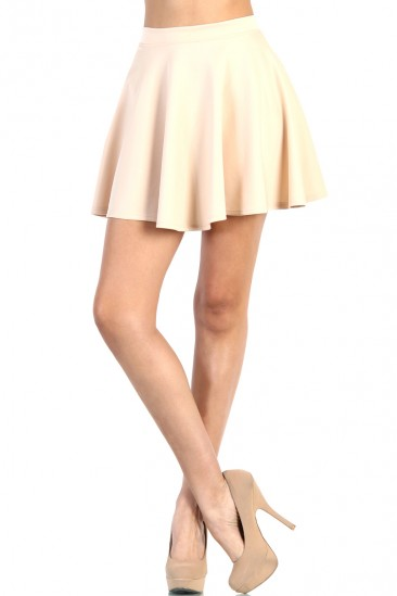 LoveMelrose.com From Harry & Molly | Skater Skirt - Ivory