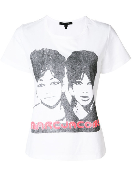 Marc Jacobs t-shirt shirt t-shirt women white cotton top