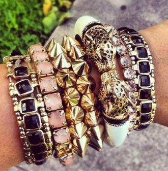 jewels tiger print bracelets hipster elegant jewelry