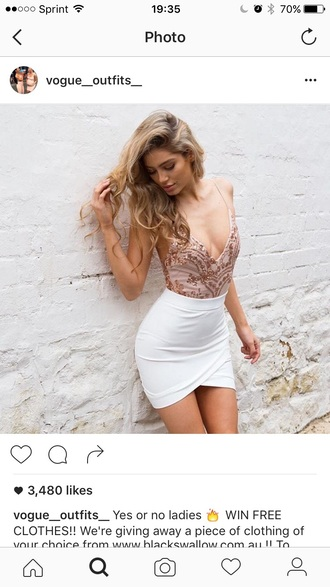 skirt outfit outfit idea summer outfits cute outfits spring outfits date outfit party outfits clubwear trendy clothes style stylish fashion mini skirt pencil skirt white skirt high waisted skirt slit skirt top summer top cute top tank top sequins