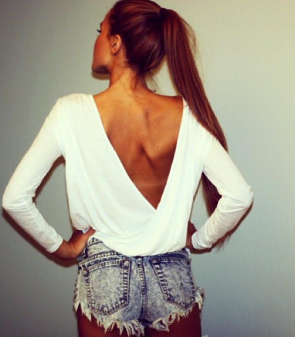 blouse jeans shorts