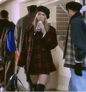 coat,clueless,cher horowitz,plaid,red