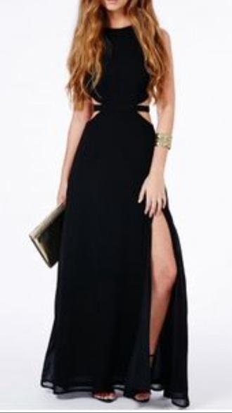 dress black dress maxi dress cut-out dress cute dress prom dress prom beautiful cute outfits