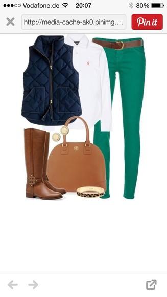 jeans green pants