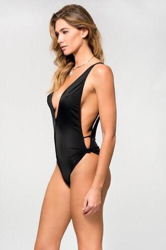 swimwear black cheeky jyork x dbrie monokini one piece skimpy