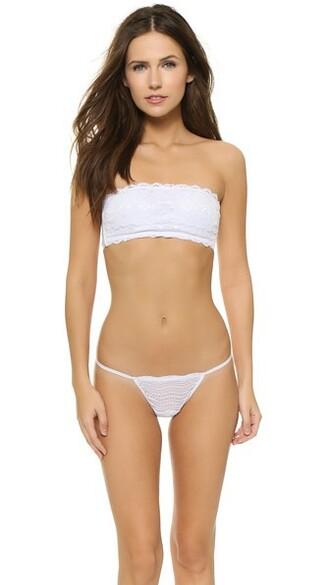 bra bandeau bra white underwear