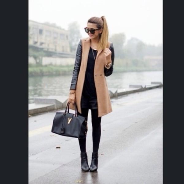 coat jacket shopping beige leather leather coat leather jacket cute stylish