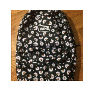 bag school bag backpack daisy cute vans