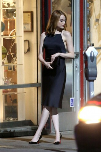 dress midi dress black dress emma stone
