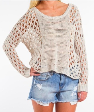 sweater holes fashionista beige
