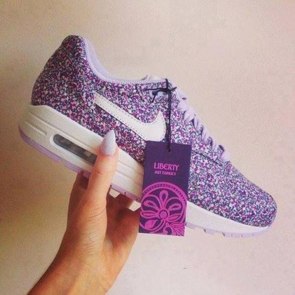 shoes nike liberty fleur violet