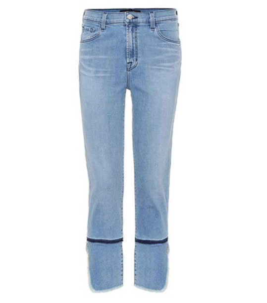 J Brand Ruby high-rise cropped jeans in blue