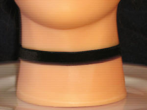 Adjustable Black Velvet Black Choker | eBay