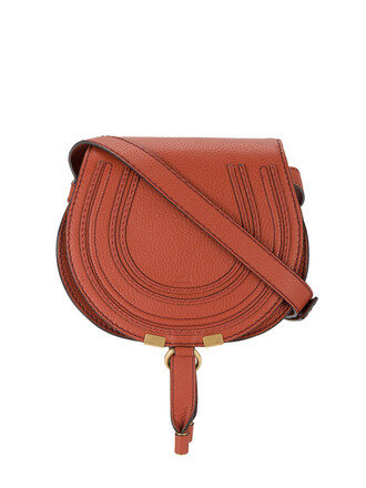 cross women bag leather cotton red