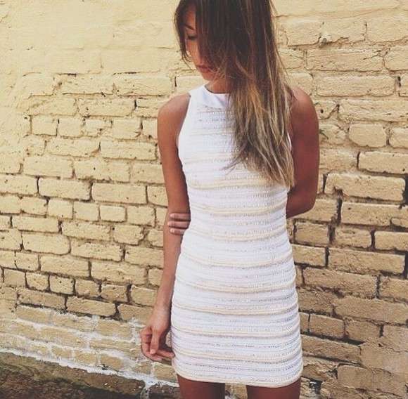 diamonds white and gold dress sparkly dress lines stripe