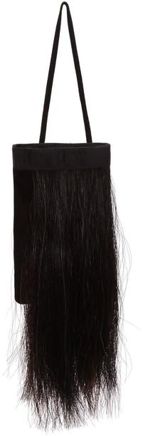 hair horse bag black