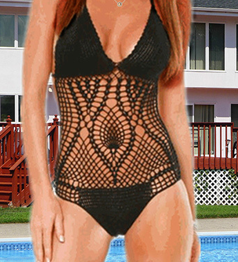Sexy Crochet Bathing Suit One Piece
