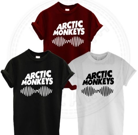 arctic monkeys indie rock and roll band 100% cotton casual fashion loose printing t shirt tee dress European size AM SOUNDWAVE-in T-Shirts from Apparel & Accessories on Aliexpress.com