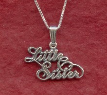 Sterling Silver Little SISTER Necklace