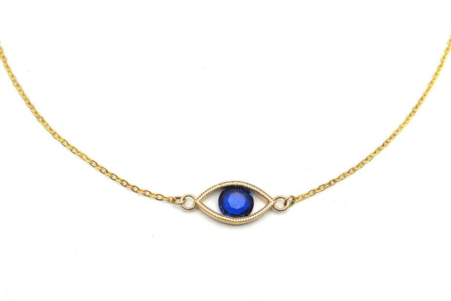Blue Eye Necklace - Vintage Inspired Jewellery By Zara Taylor